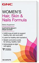 Витамины для волос, кожи и ногтей GNC Hair, Skin & Nails Formula